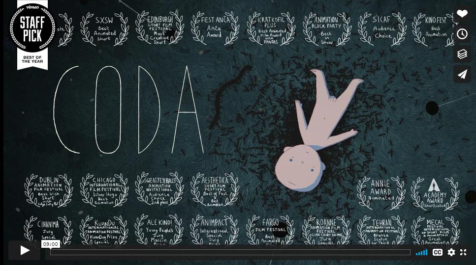 Coda, un intenso corto animato sul senso della vita e della morte